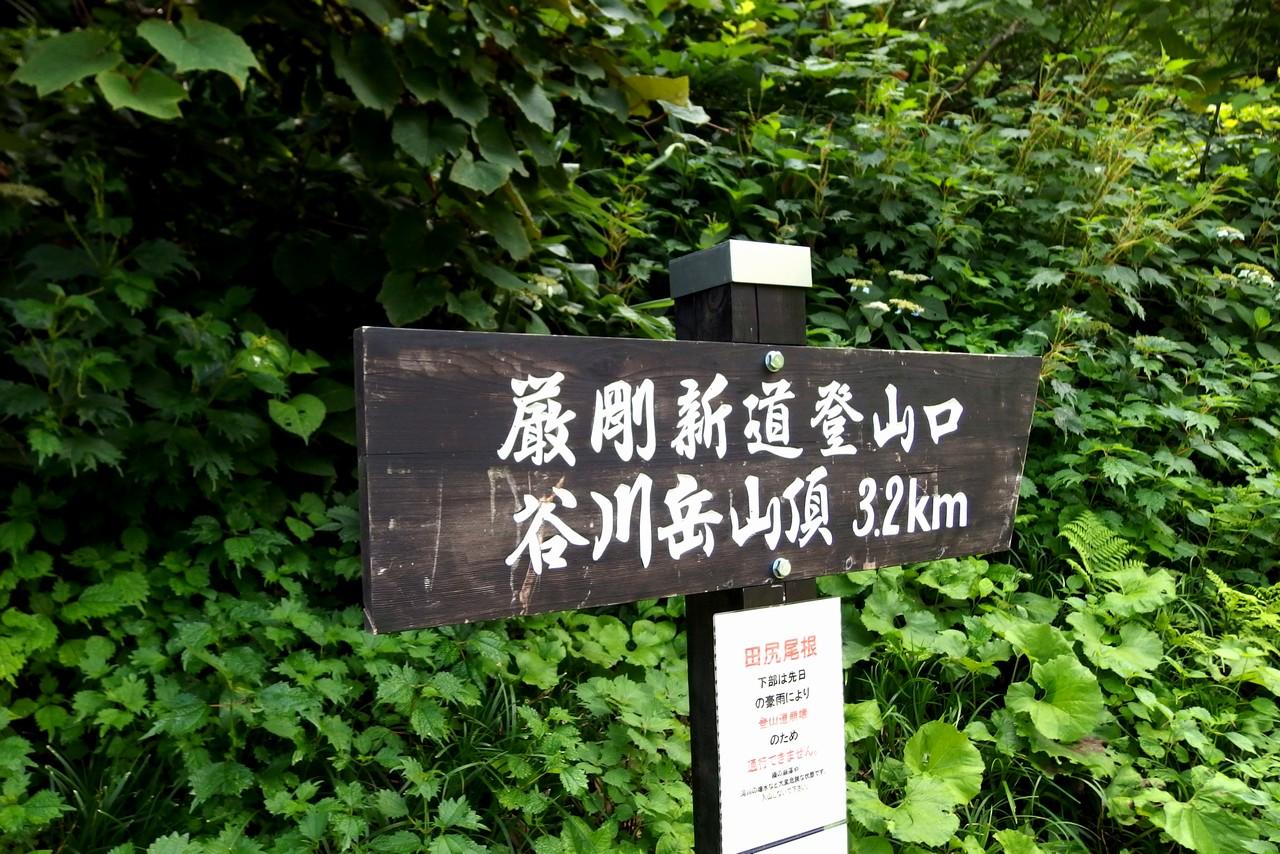 谷川岳 厳剛新道の入り口