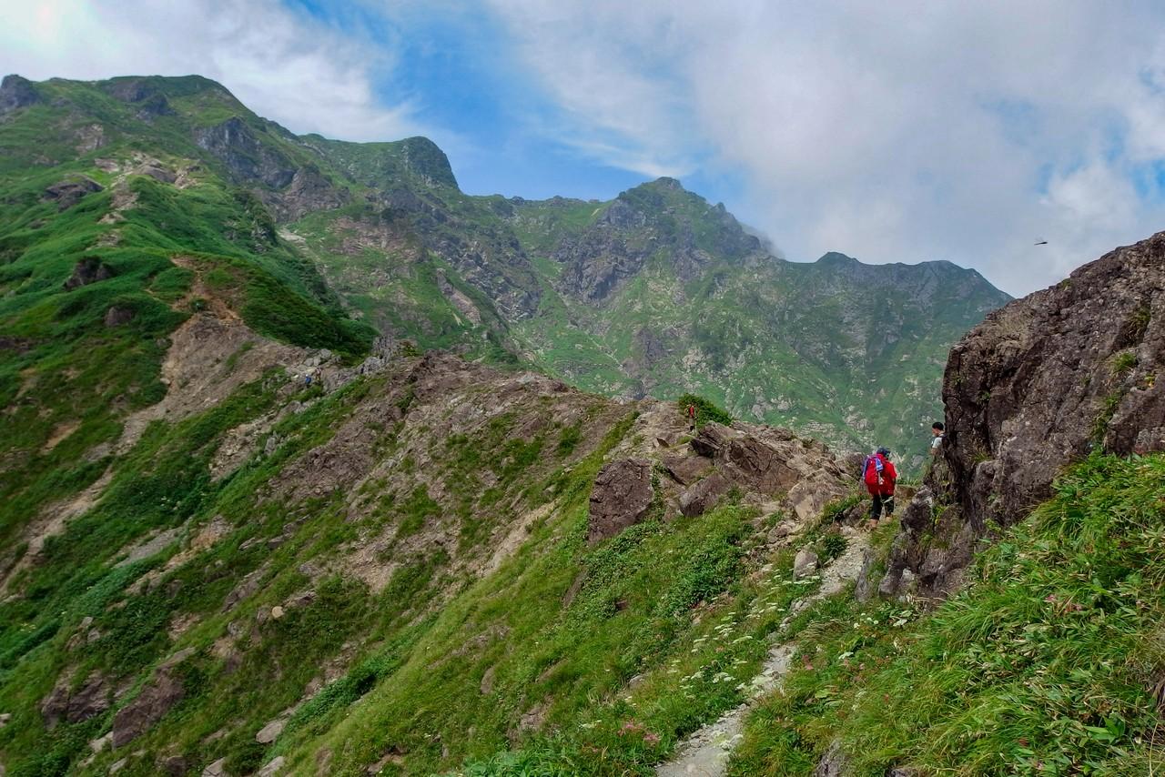 谷川岳 西黒尾根の登山道