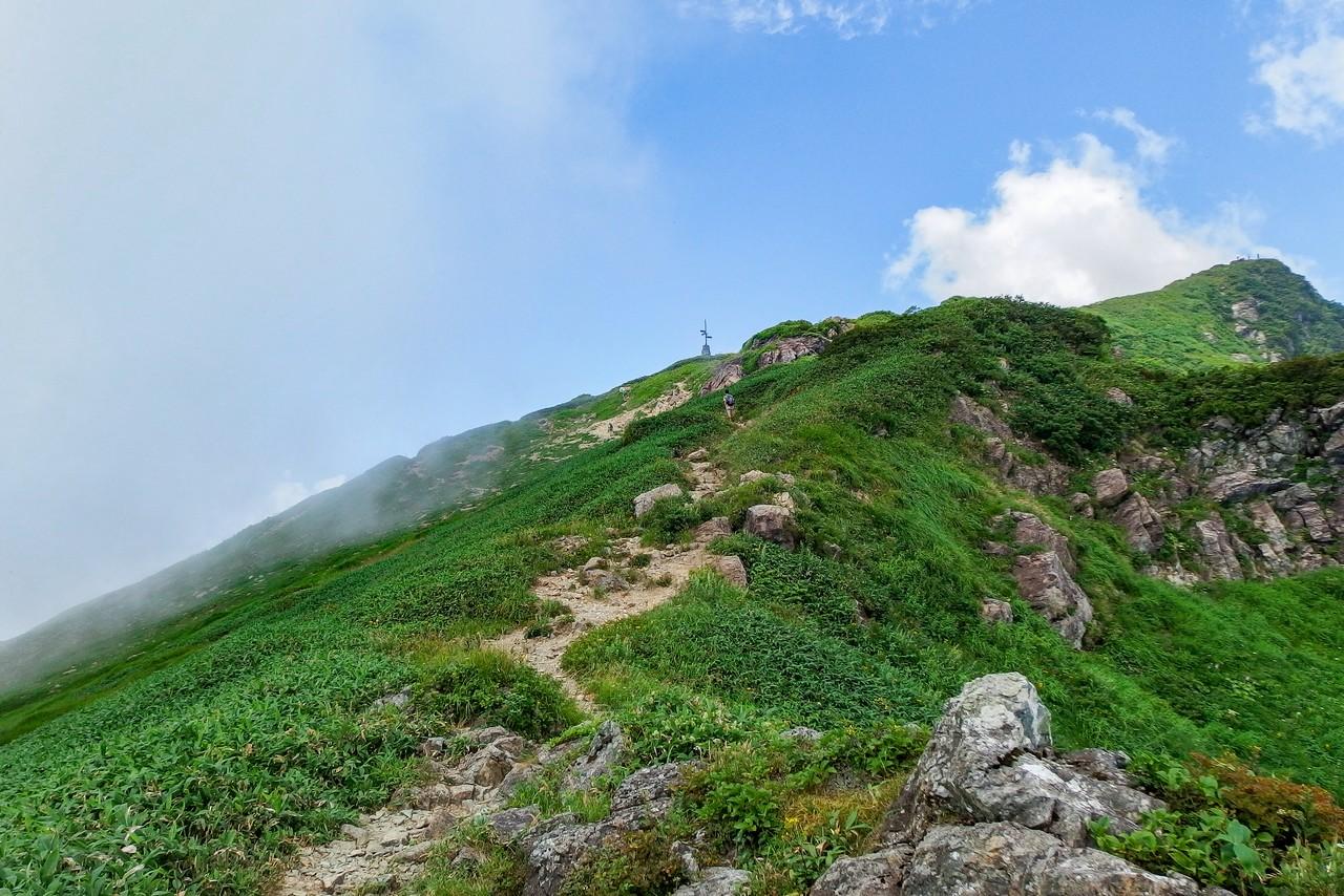 谷川岳 西黒尾根の頭頂部