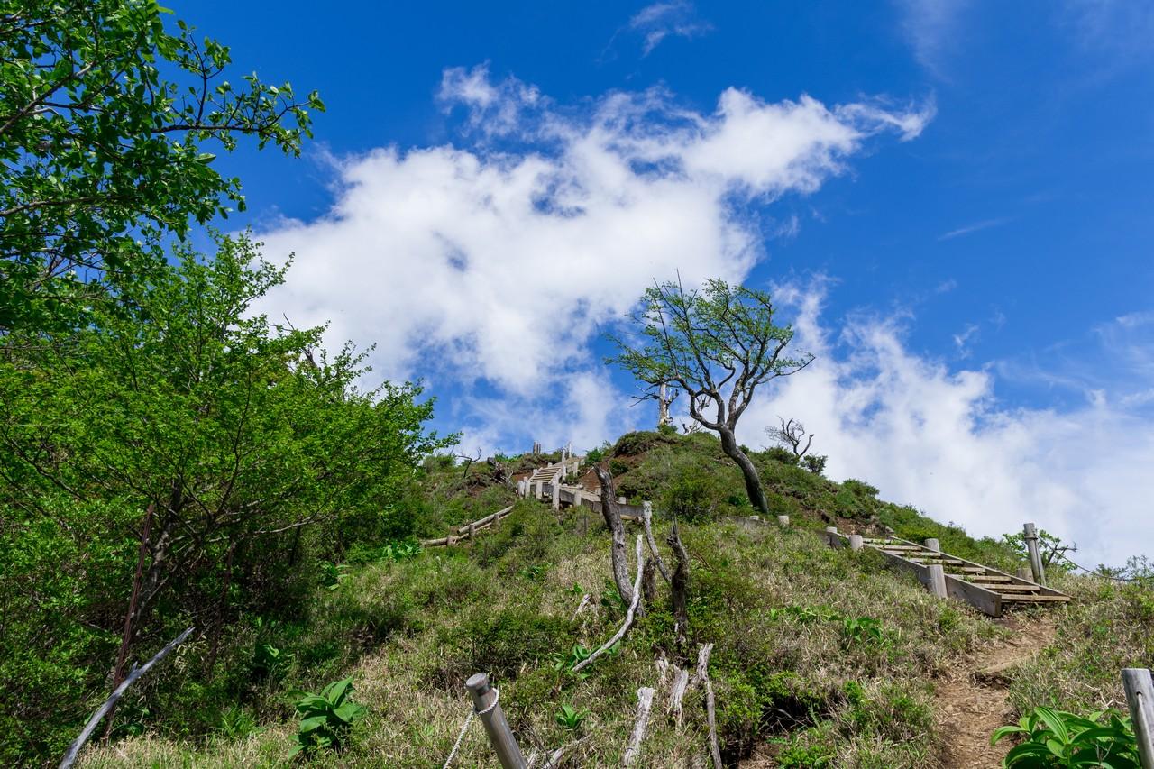 蛭ヶ岳山頂手前の登り