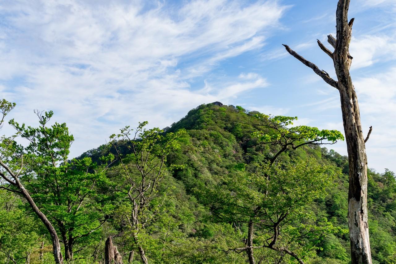 丹沢主脈から見た塔ノ岳