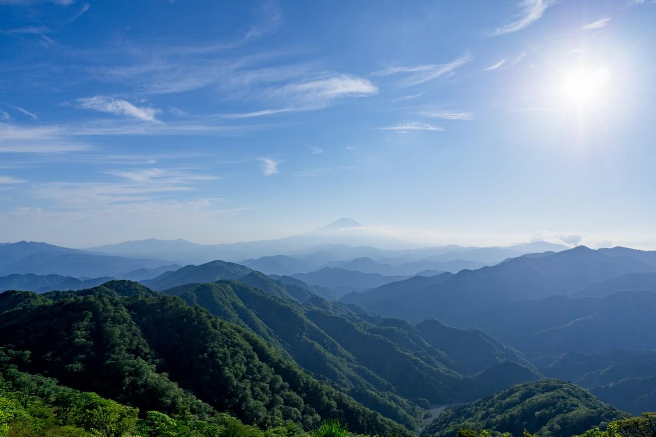 塔ノ岳から見た富士山