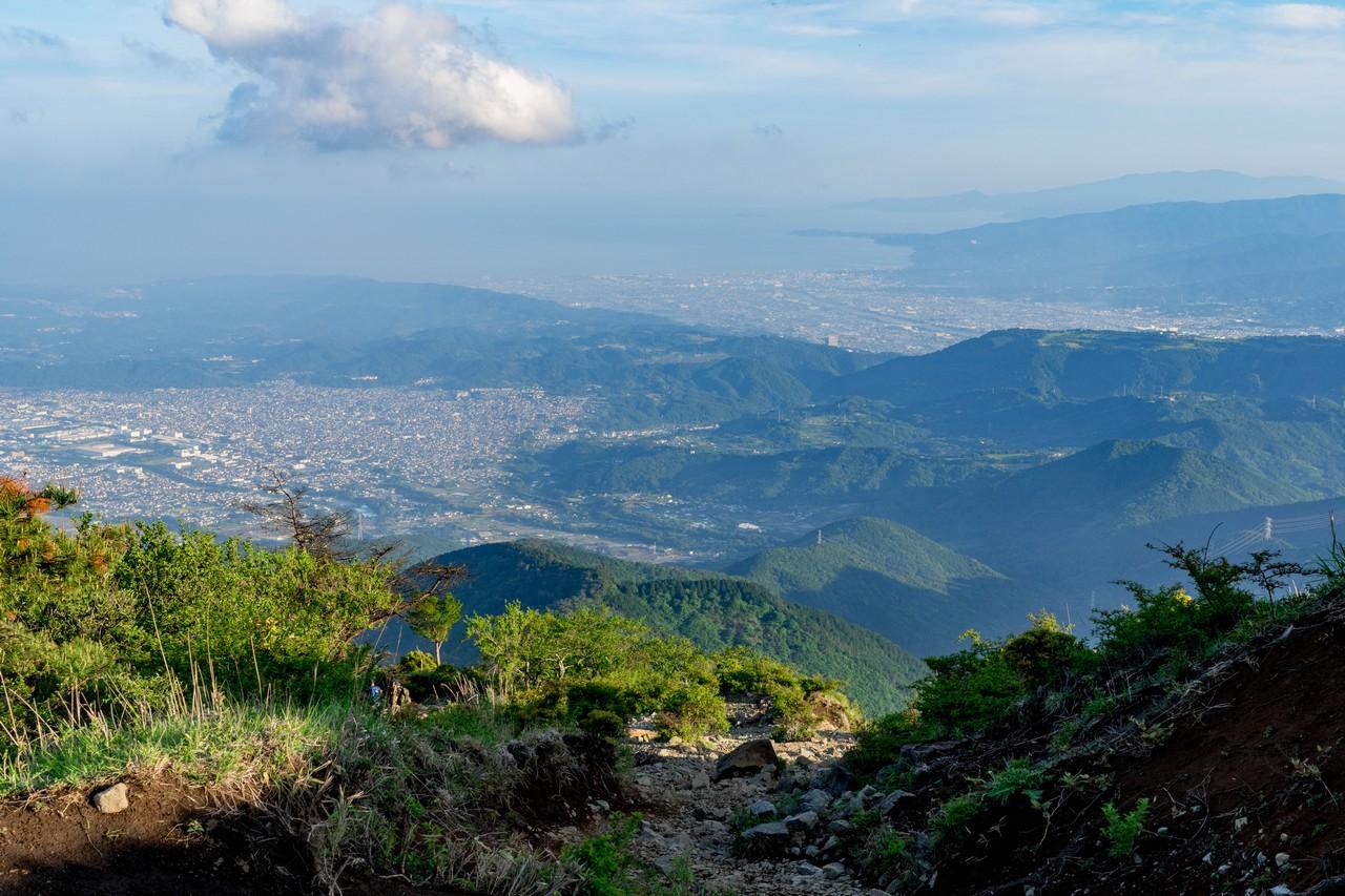 塔ノ岳から見た丹沢表尾根
