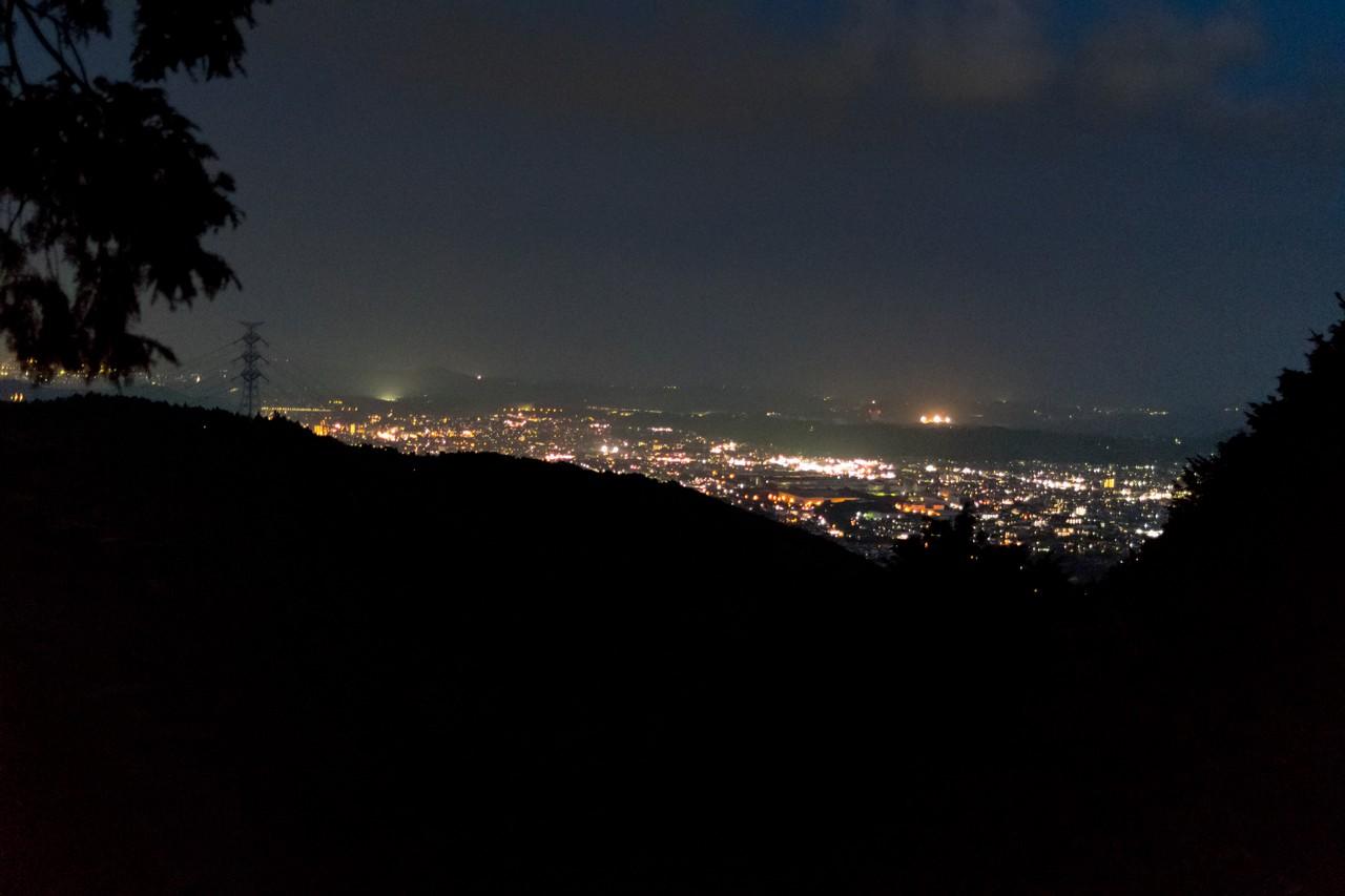 見晴茶屋から見た夜景