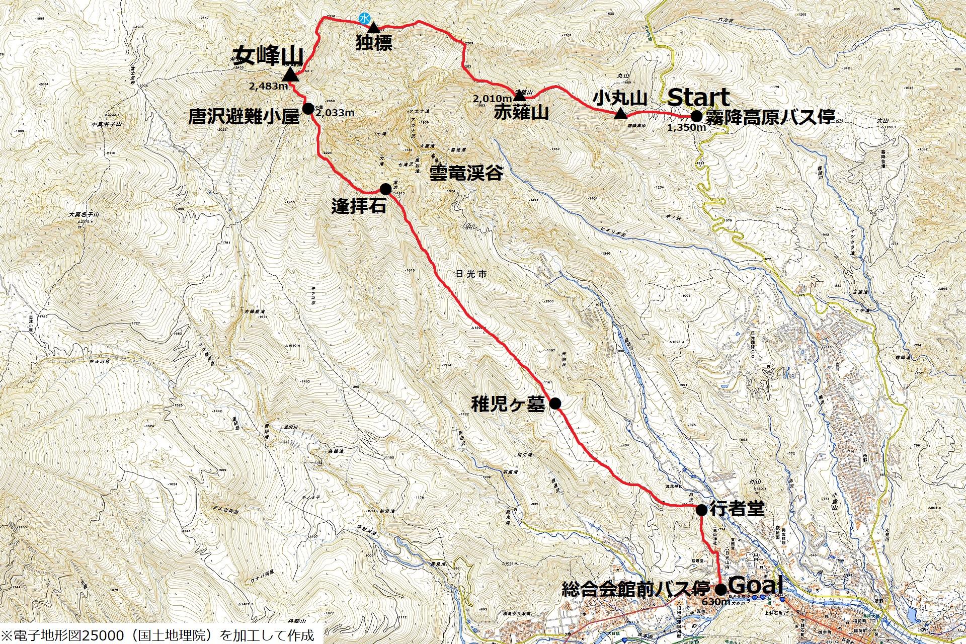 170708女峰山-map
