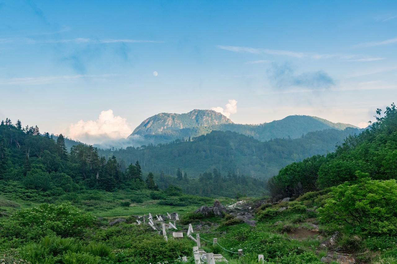 天狗の庭から見た妙高山