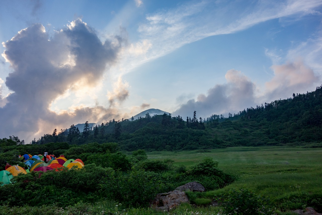 高谷池ヒュッテから見た火打山