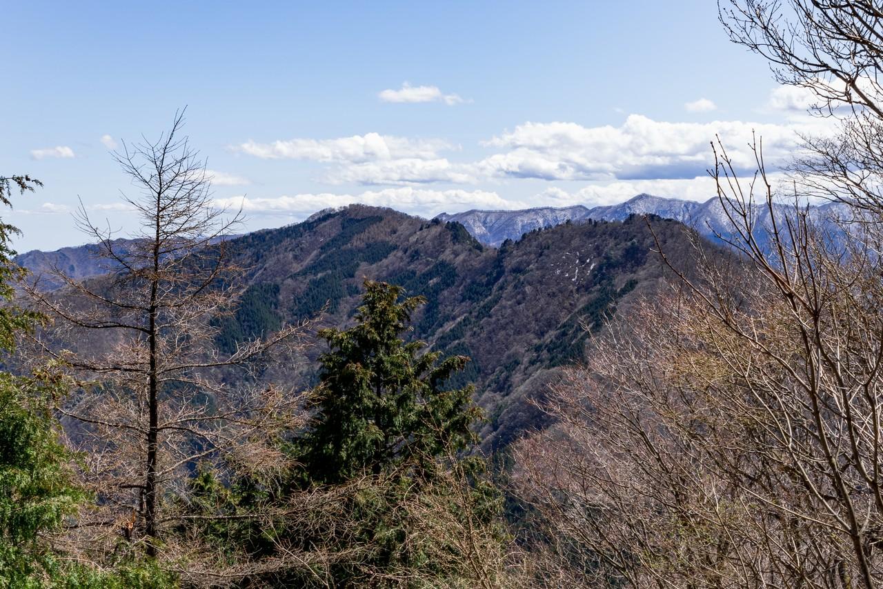 武甲山から見た大持山と子持山