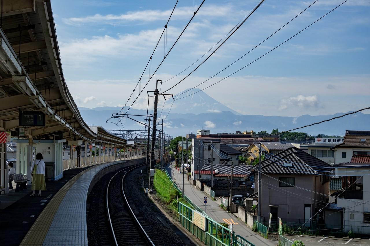 韮崎駅から見た富士山