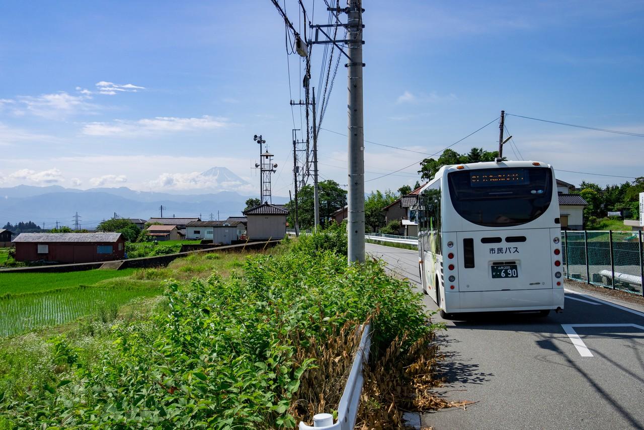 甘利山入口バス停