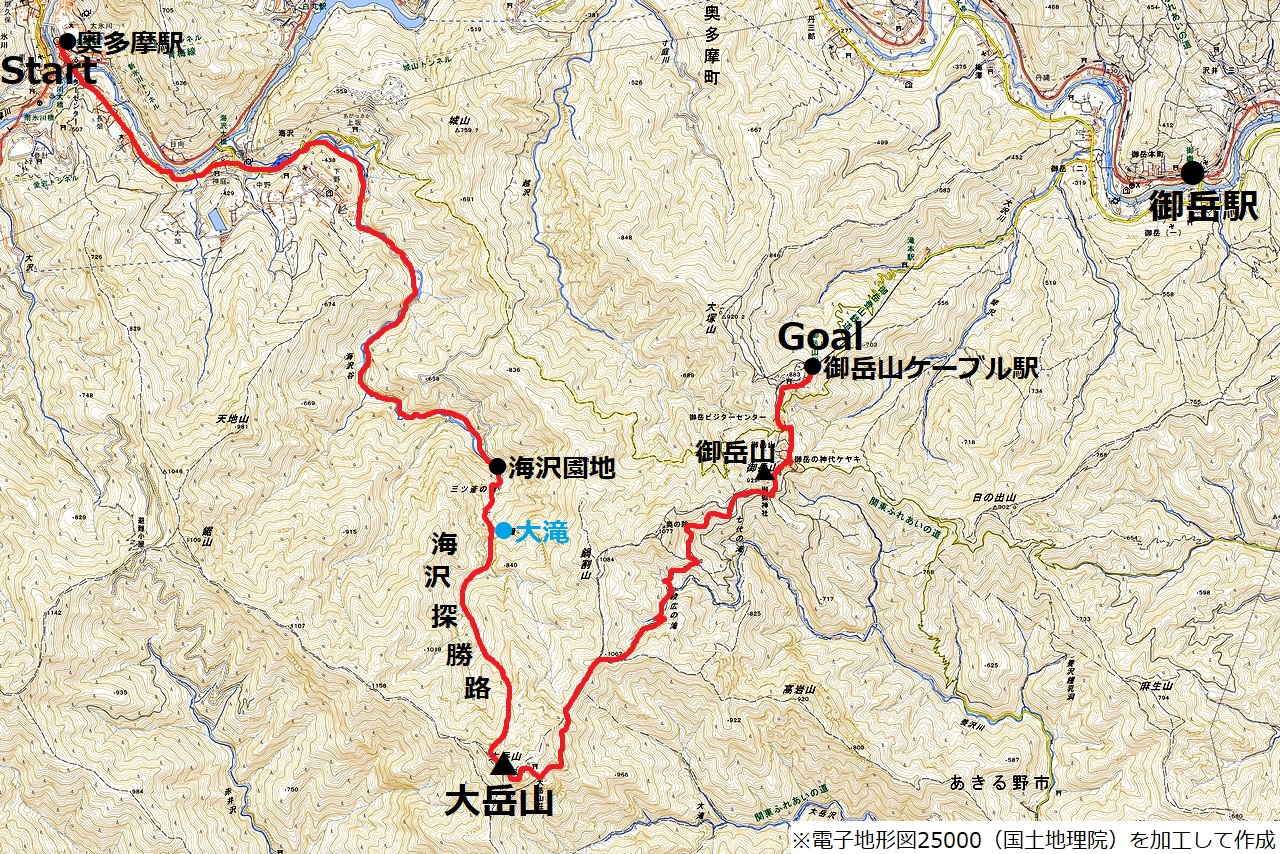 200712大岳山-map