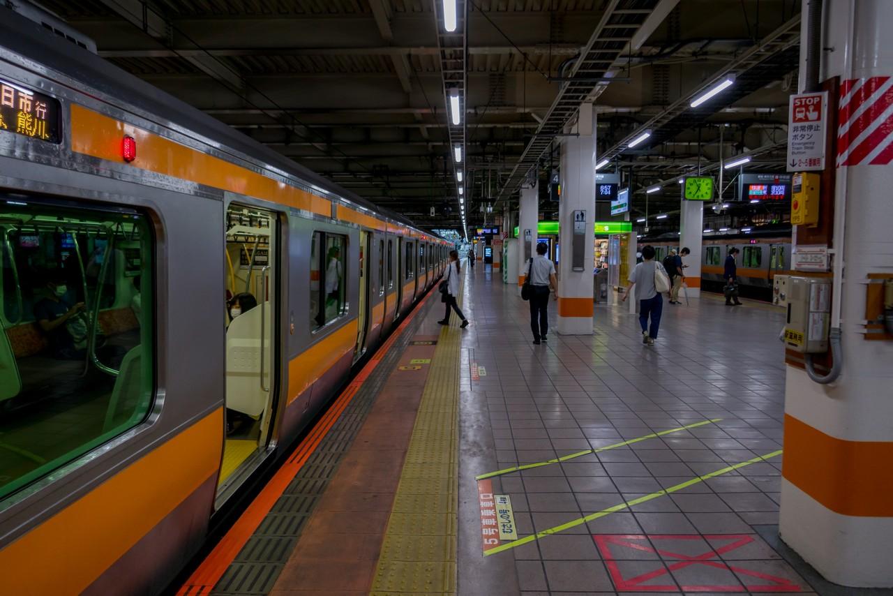 立川駅のホーム