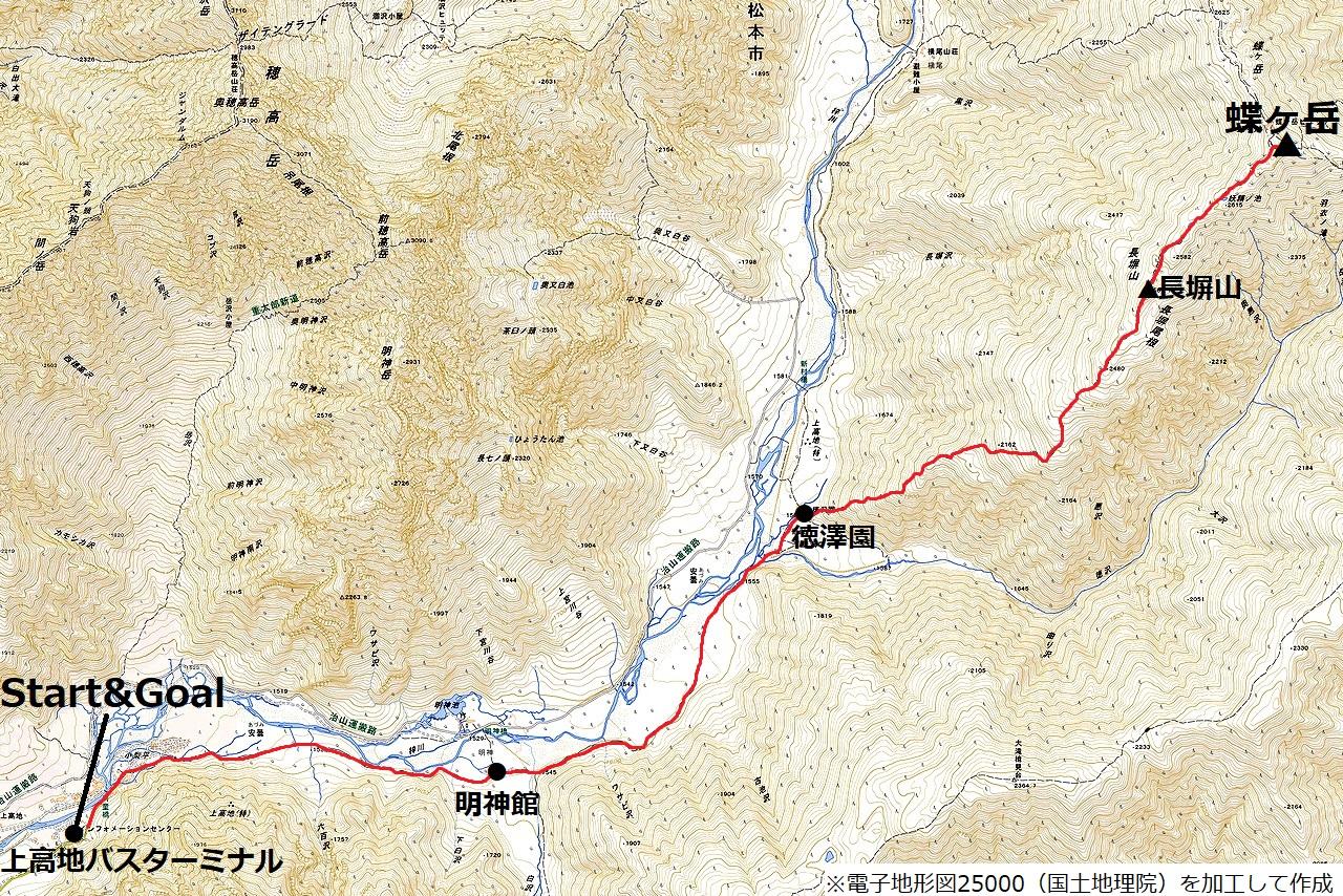 200810蝶ヶ岳-map