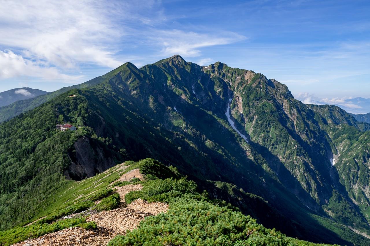 爺ヶ岳から見た鹿島槍ヶ岳