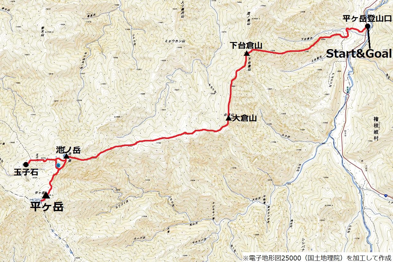 200922平ヶ岳-map