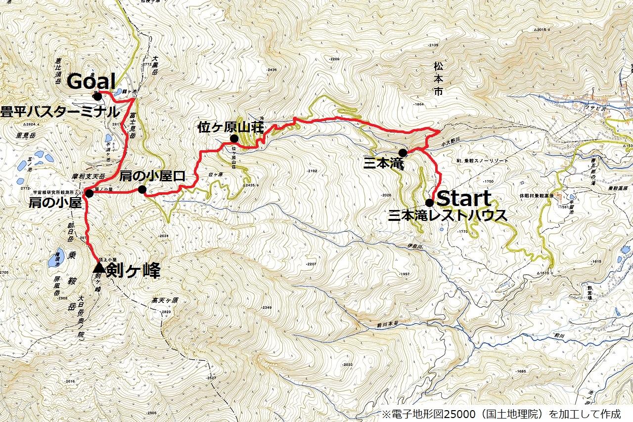 201006乗鞍岳-map