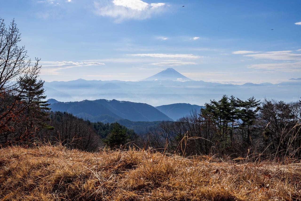 帯那山から見た富士山