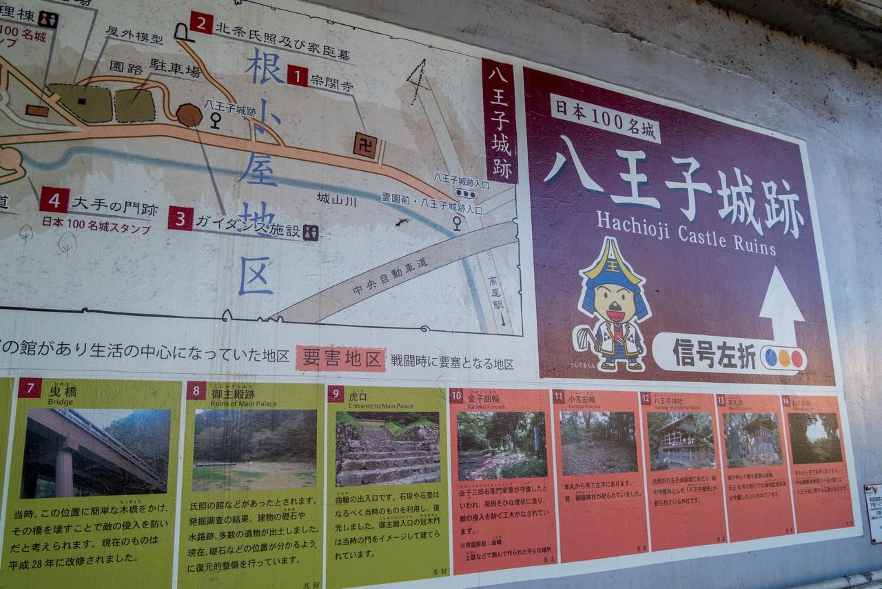 八王子城山への道案内図