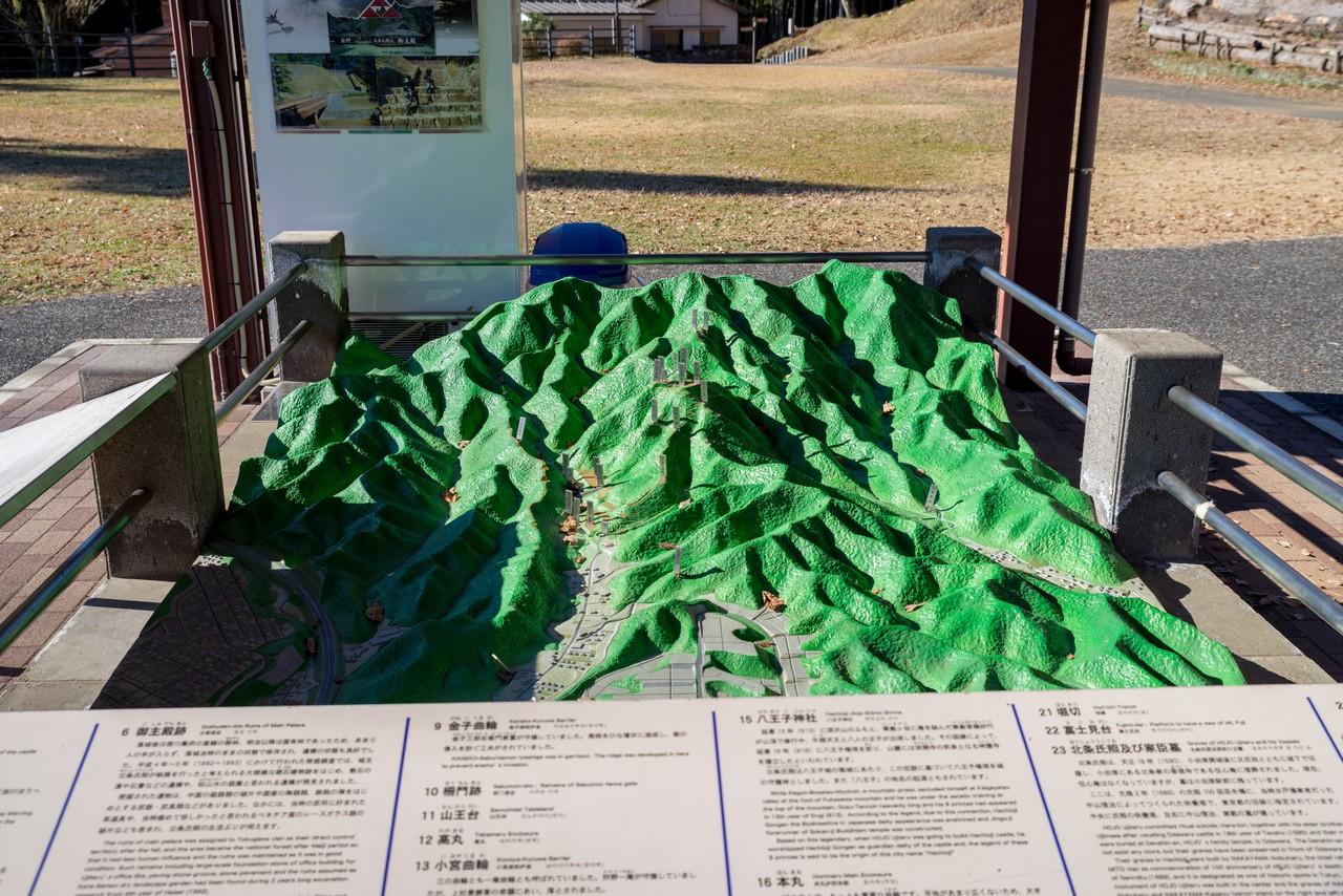 八王子城山の模型図
