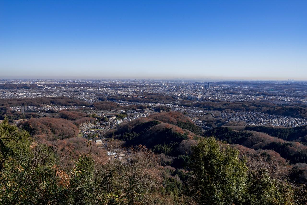 八王子城山9合目の展望スポット