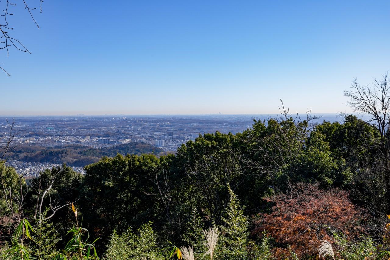八王子城山山頂からの展望