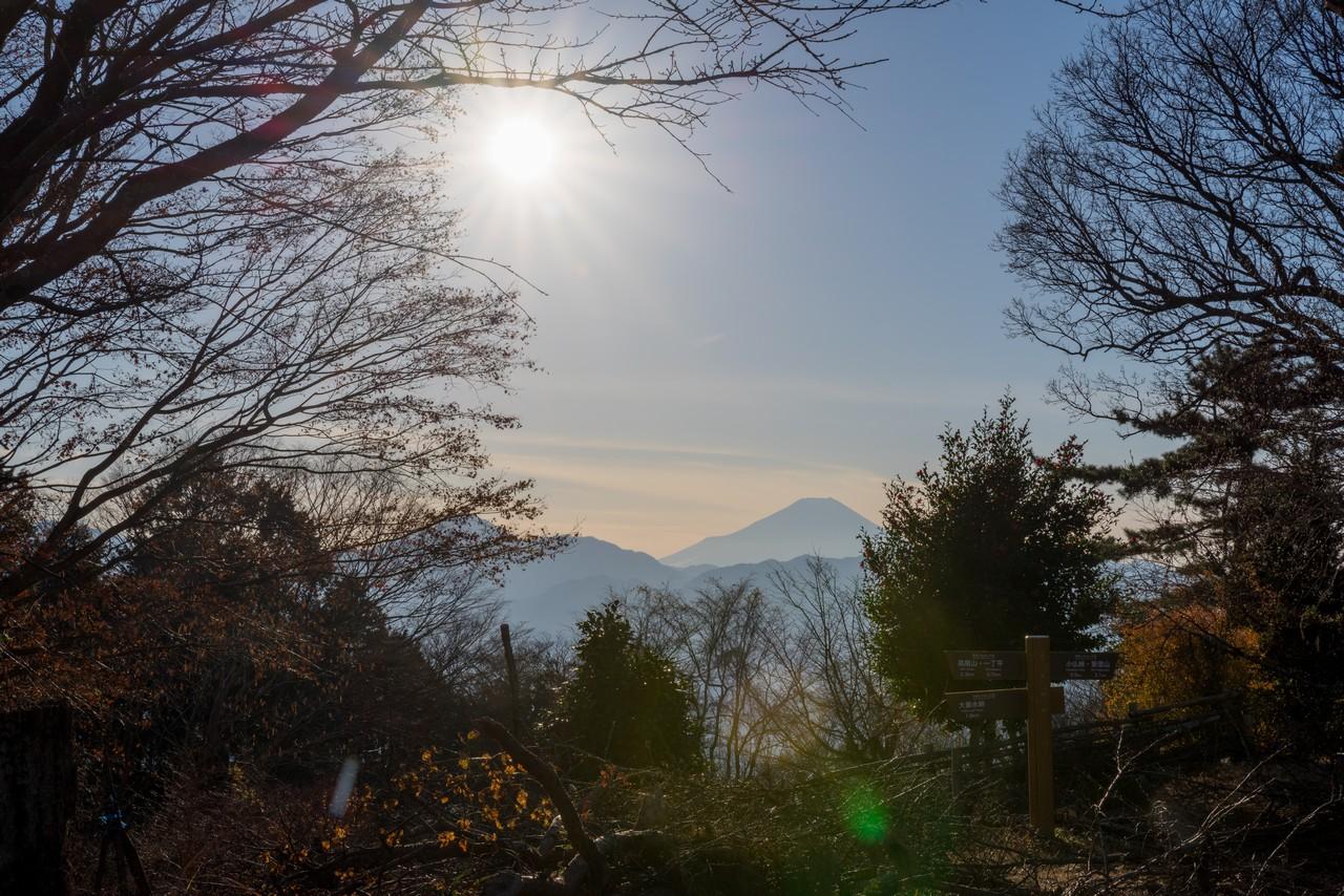小仏城山から見た富士山
