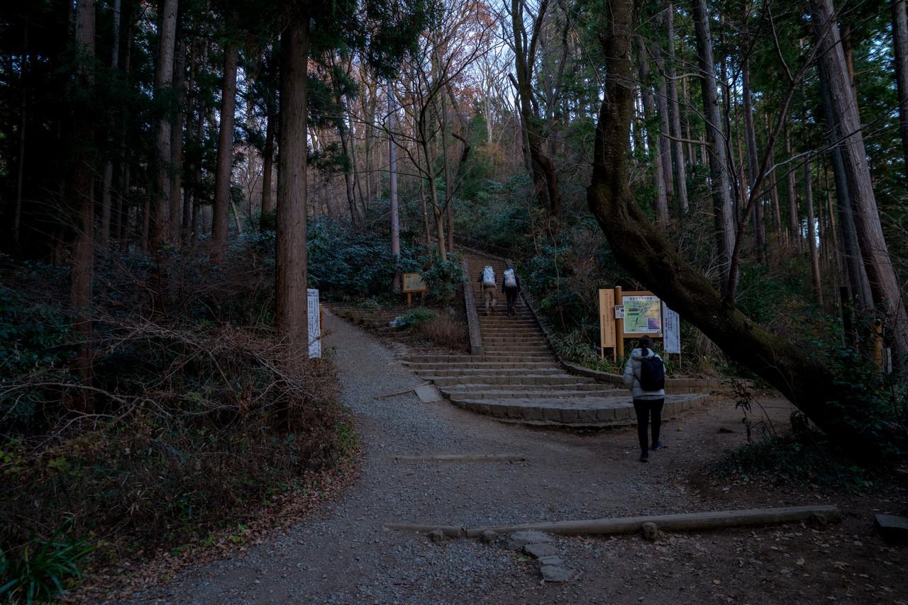 高尾山山頂直下の階段