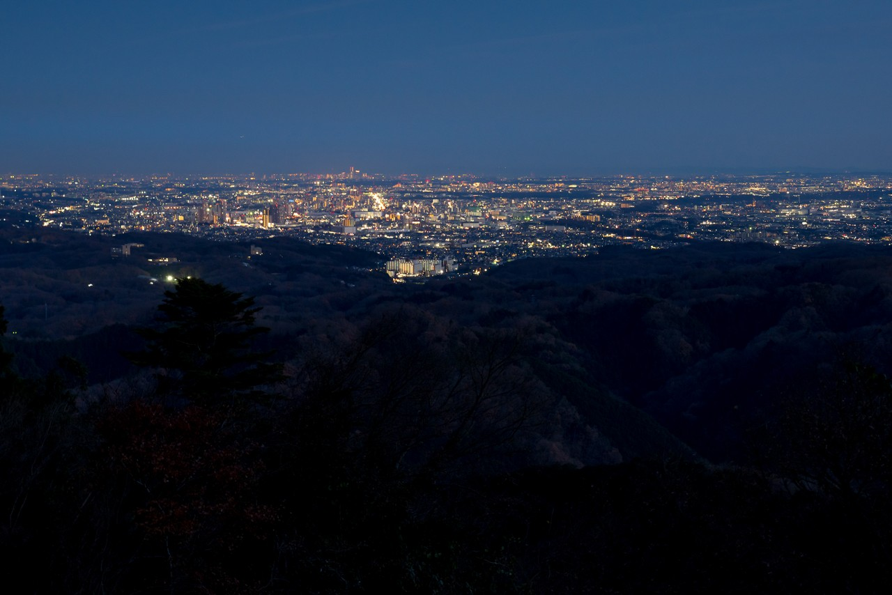 高尾山から見た夜景