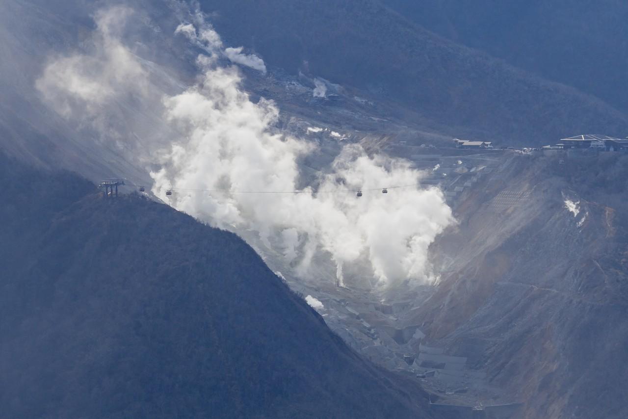 明神ヶ岳から見た大涌谷