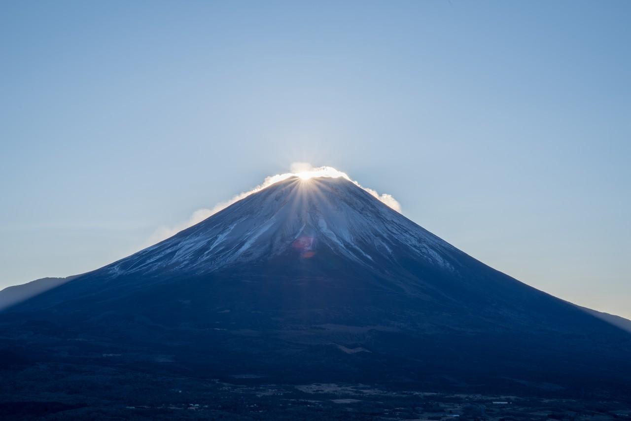竜ヶ岳から見た初日の出