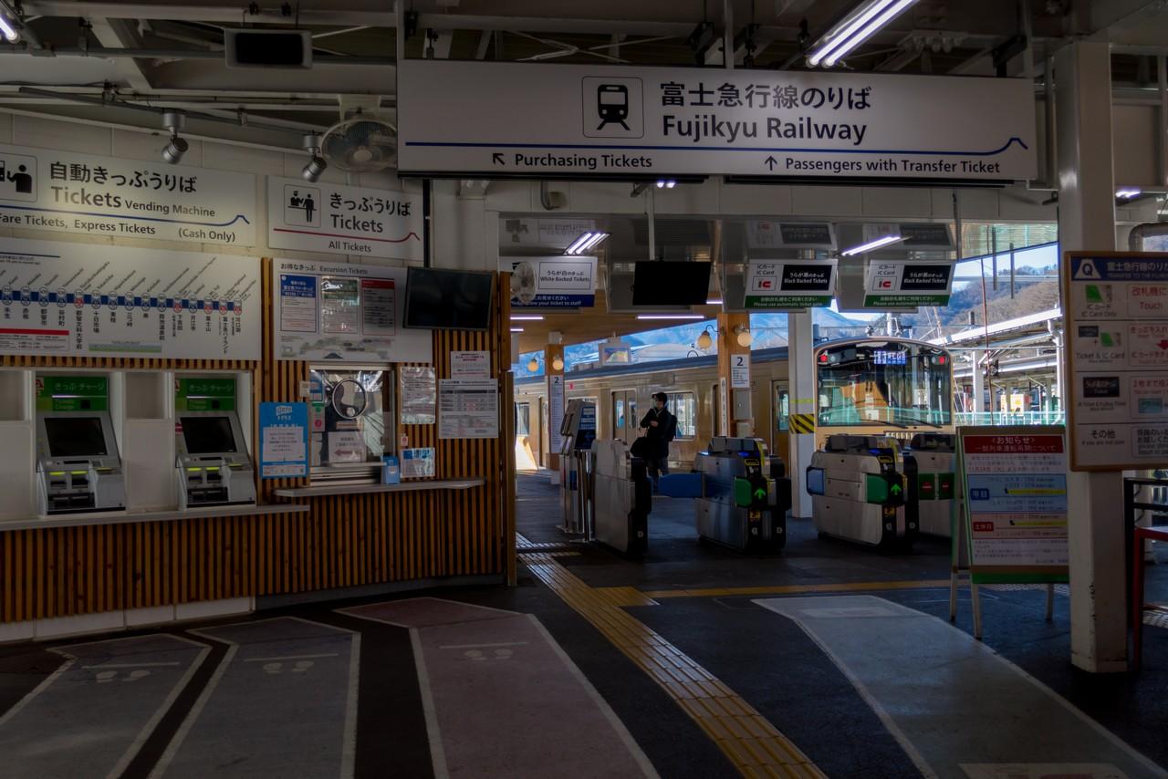 大月駅の富士急行線乗り換え改札
