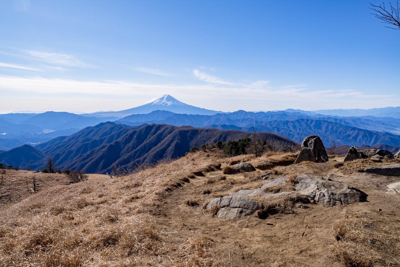 白谷ノ丸から見た富士展望