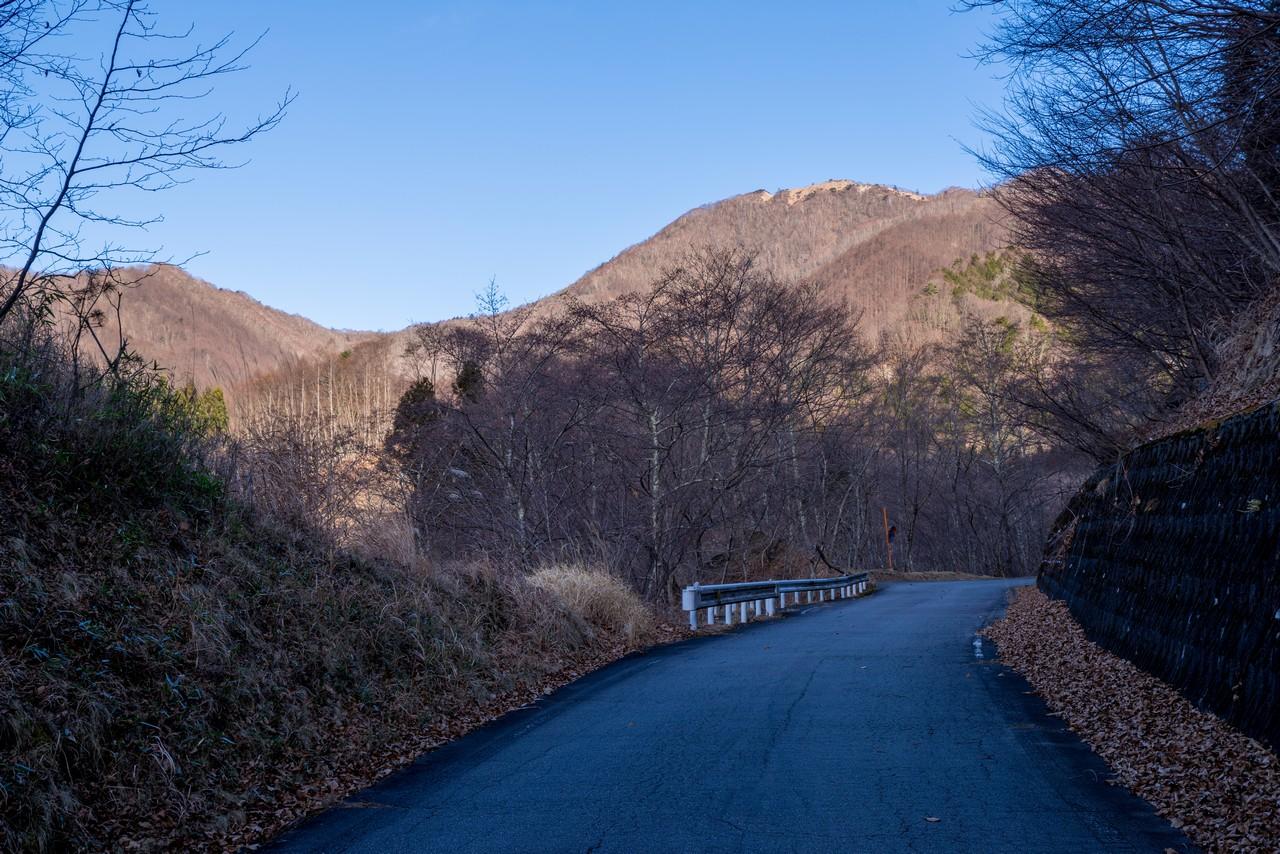 林道真木小金沢線から見た湯ノ沢峠