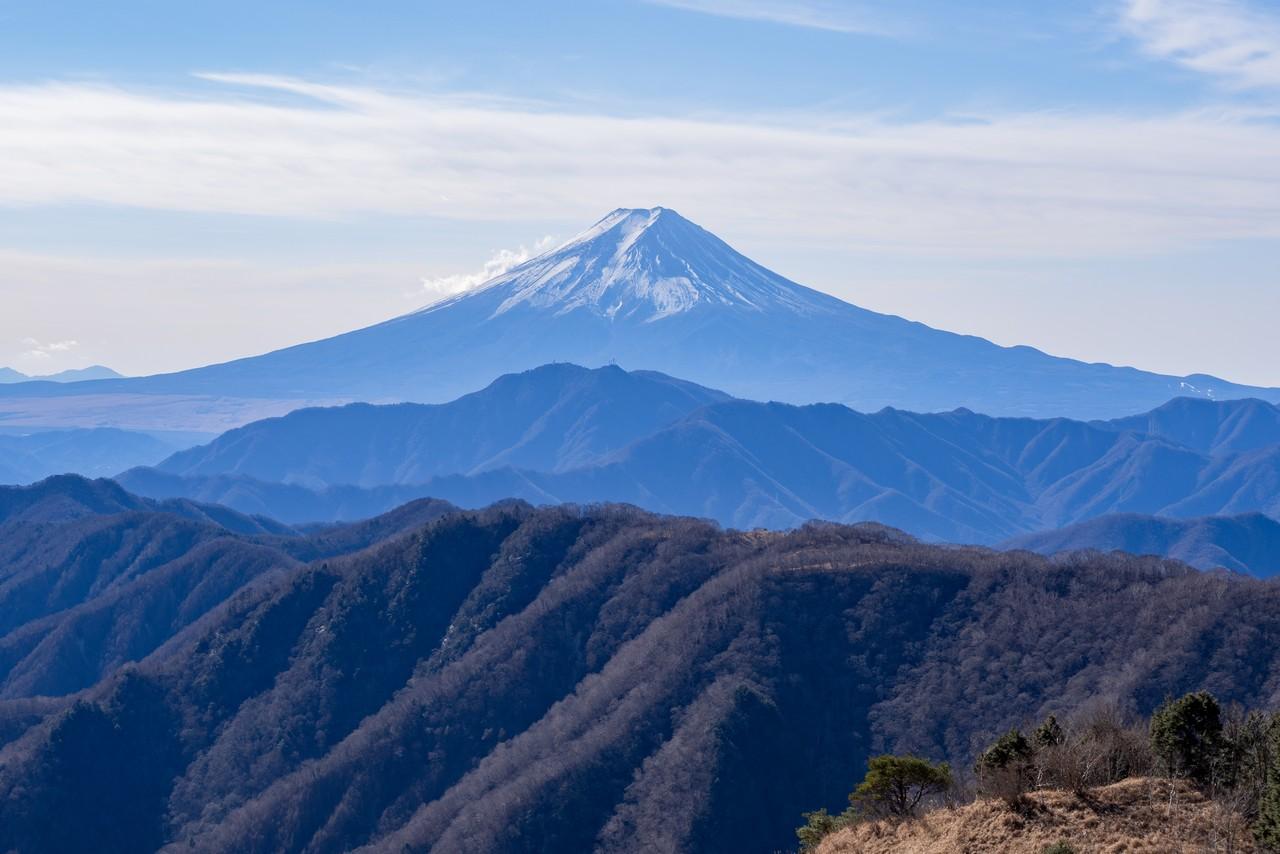 白谷ノ丸から見た富士山