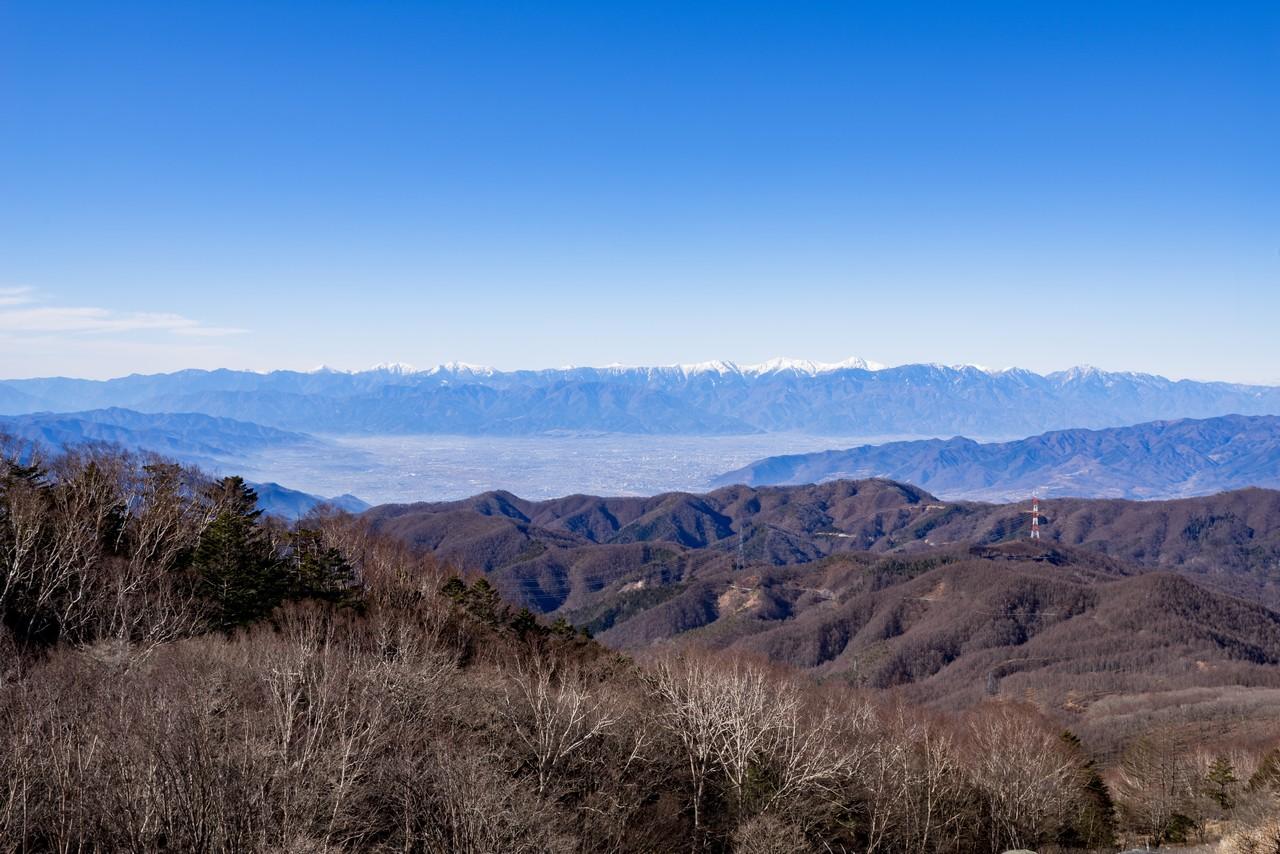 白谷ノ丸から見た南アルプス