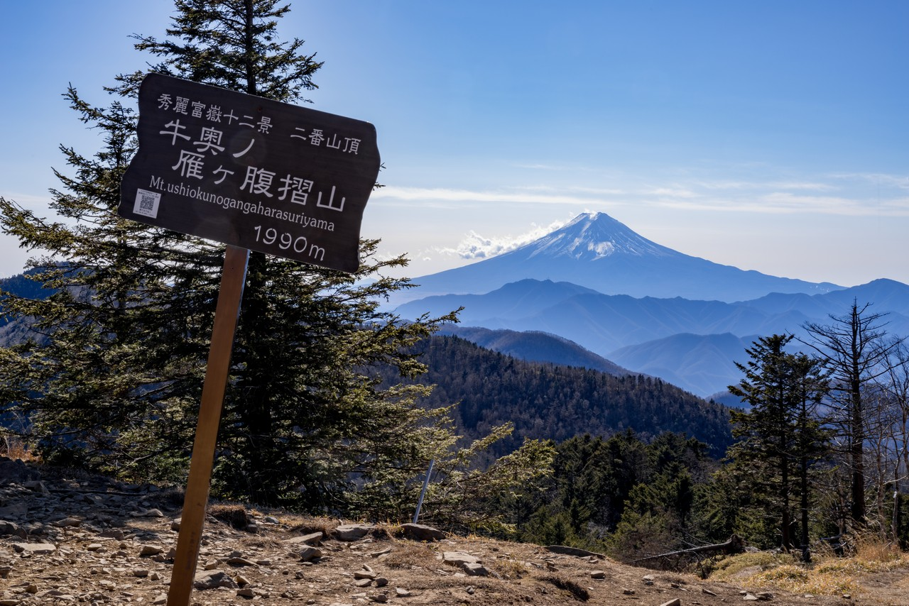 牛奥ノ雁ヶ腹摺山の山頂