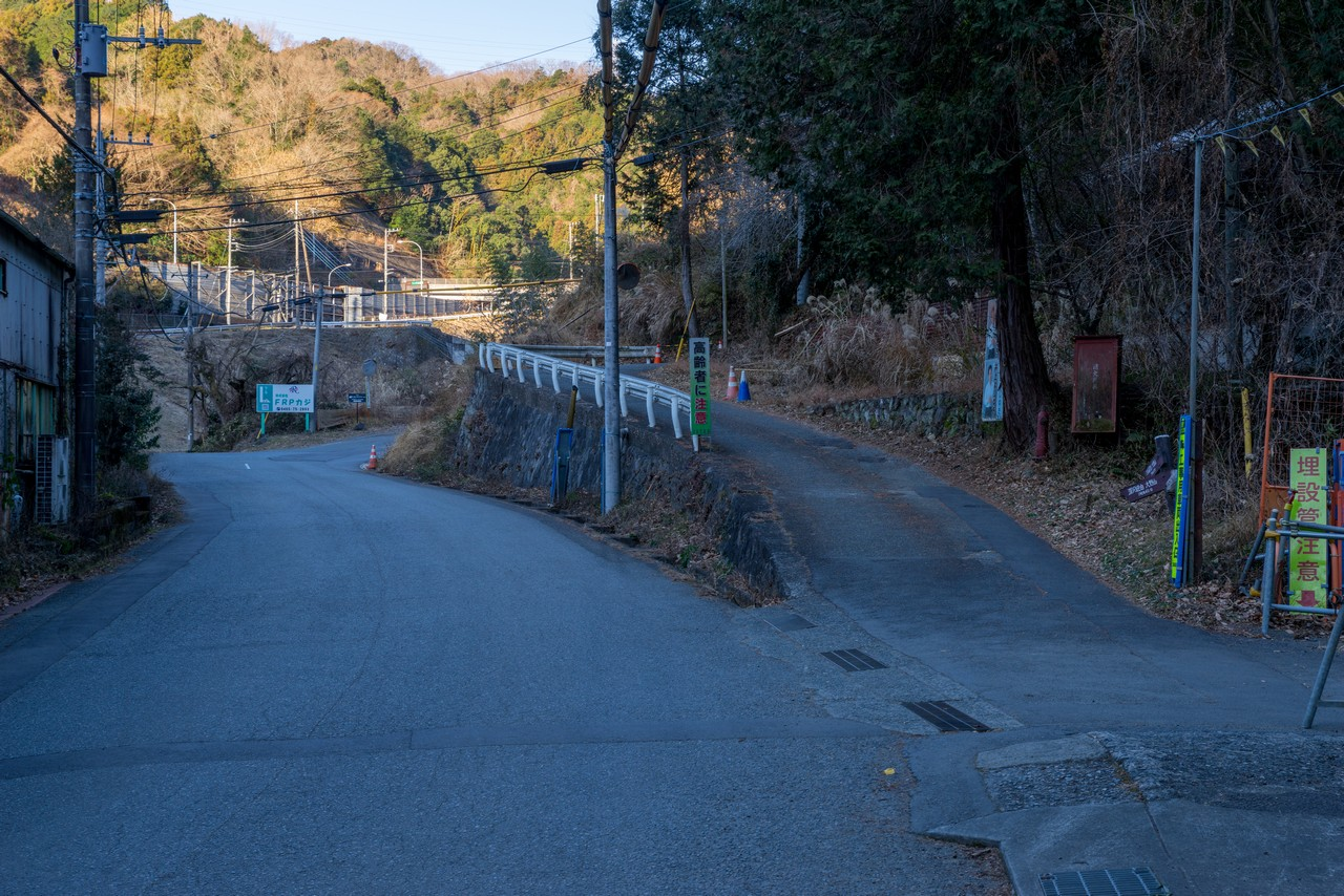 大野山登山口の分岐