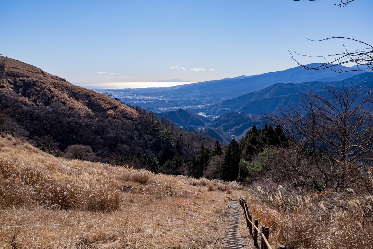 大野山から見た相模湾