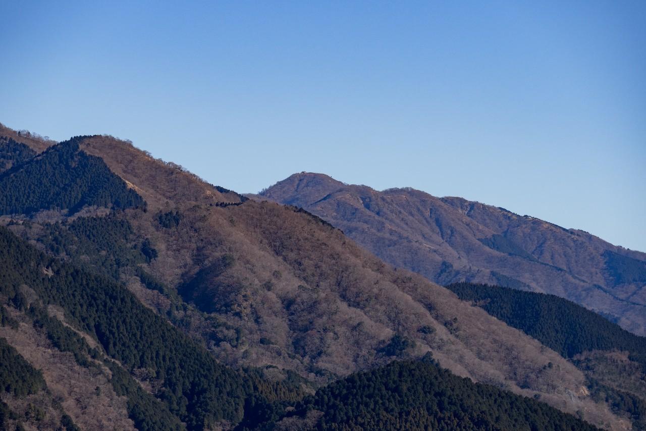 大野山から見た塔ノ岳