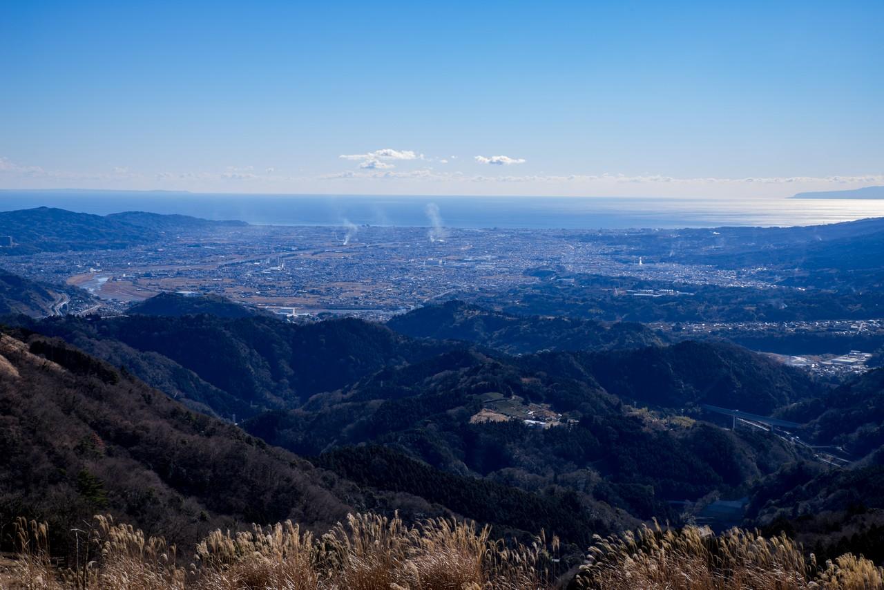 大野山から見た足柄平野