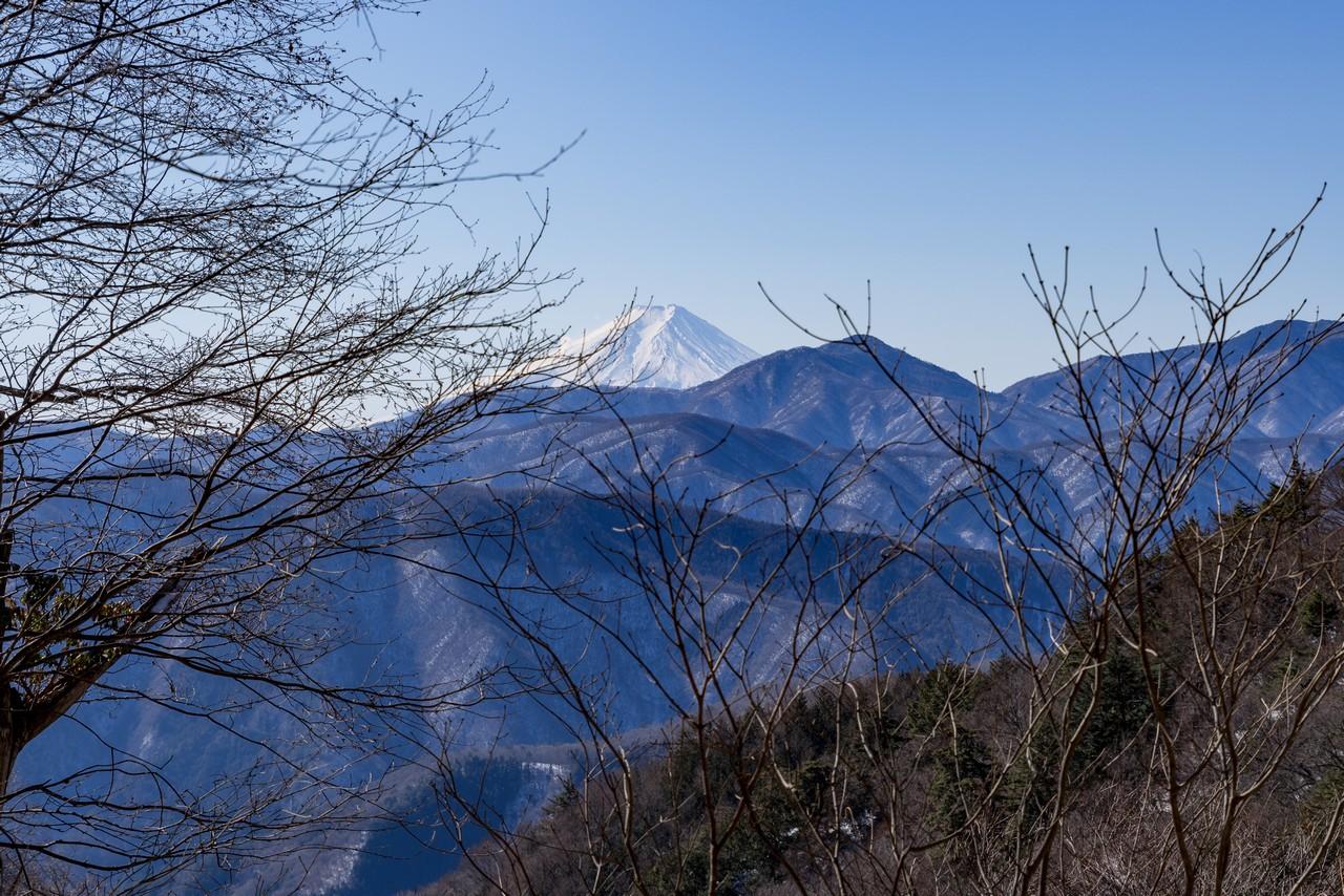 鴨沢ルートから見た富士山