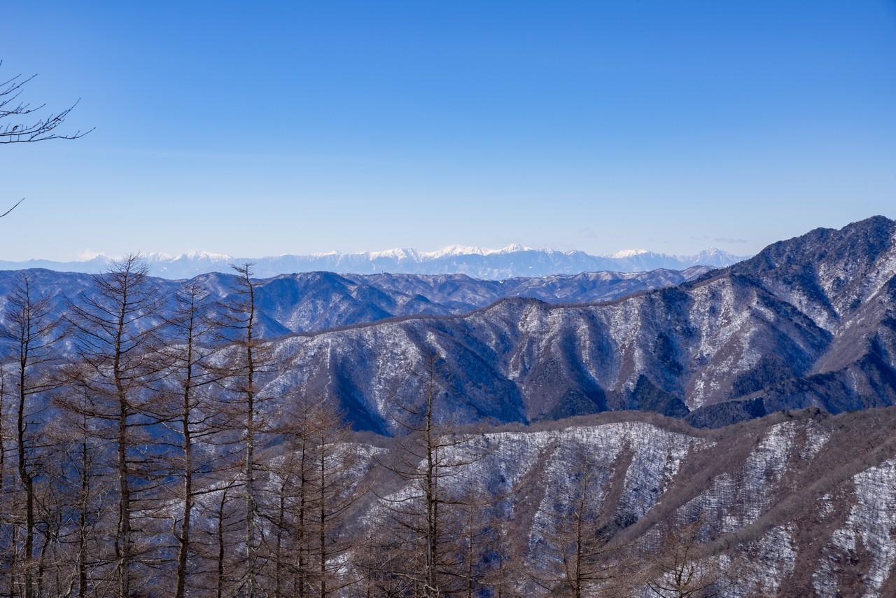 七ツ石山から見た南アルプス