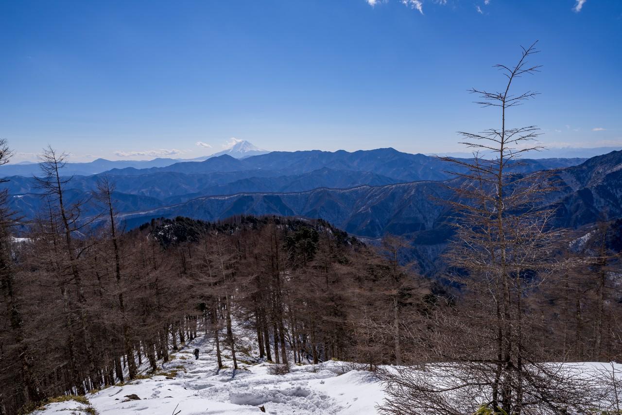 小雲取山から見た富士山