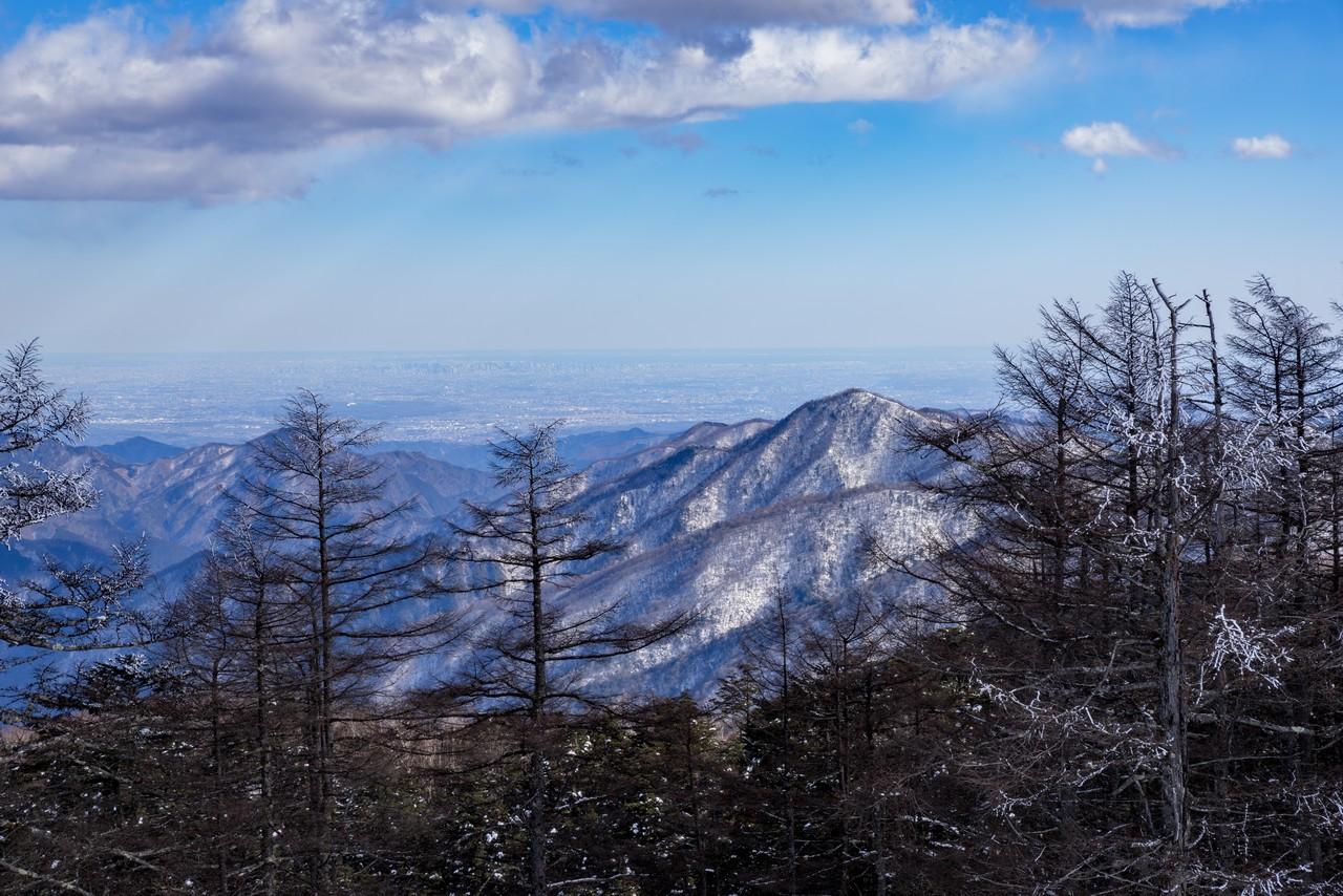 雲取山から見た東京都心