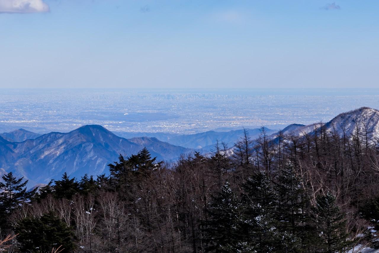 雲取山から見た東京都心9