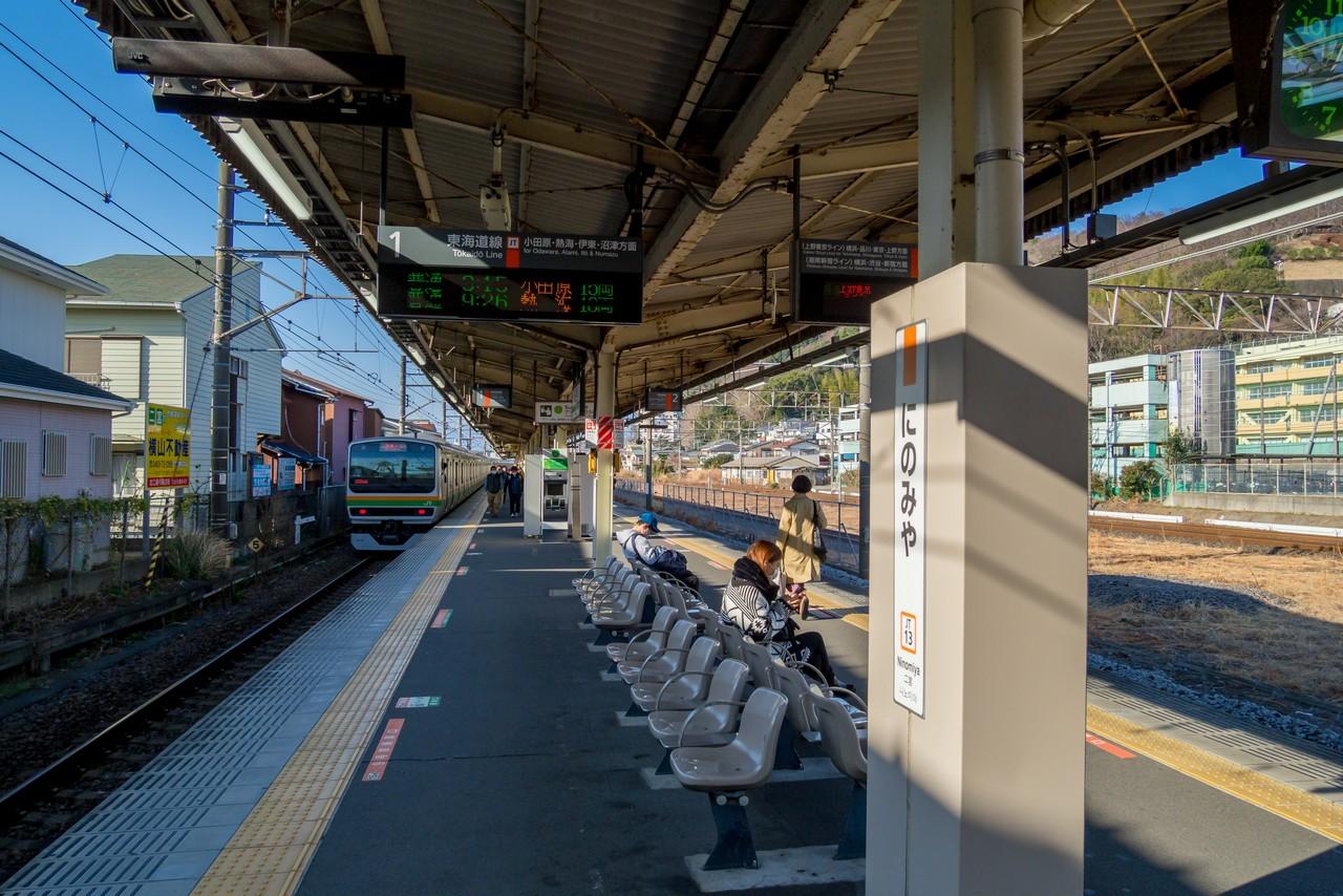 JR二宮駅のホーム