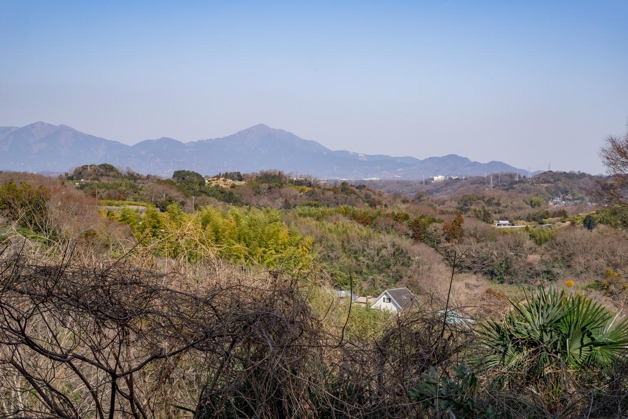 曽我丘陵から見た大山