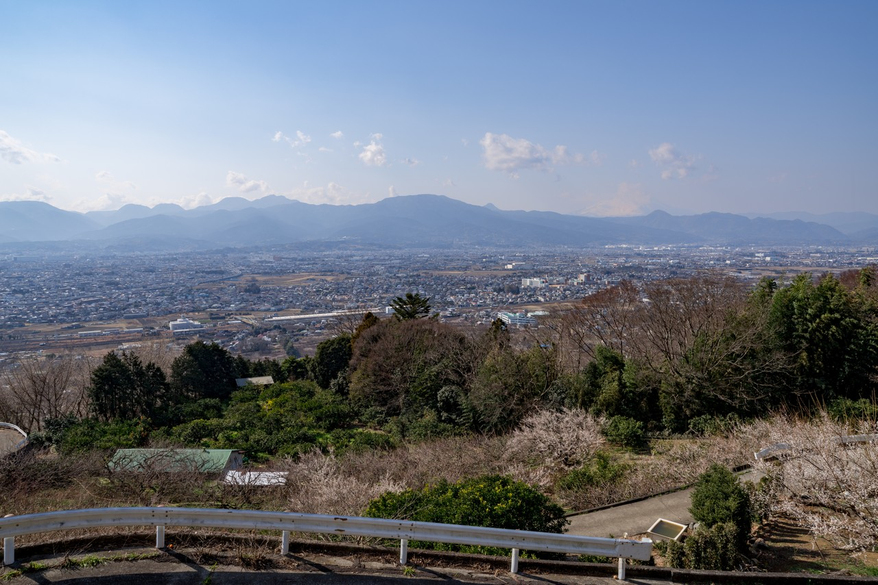 曽我丘陵の見晴台からの展望