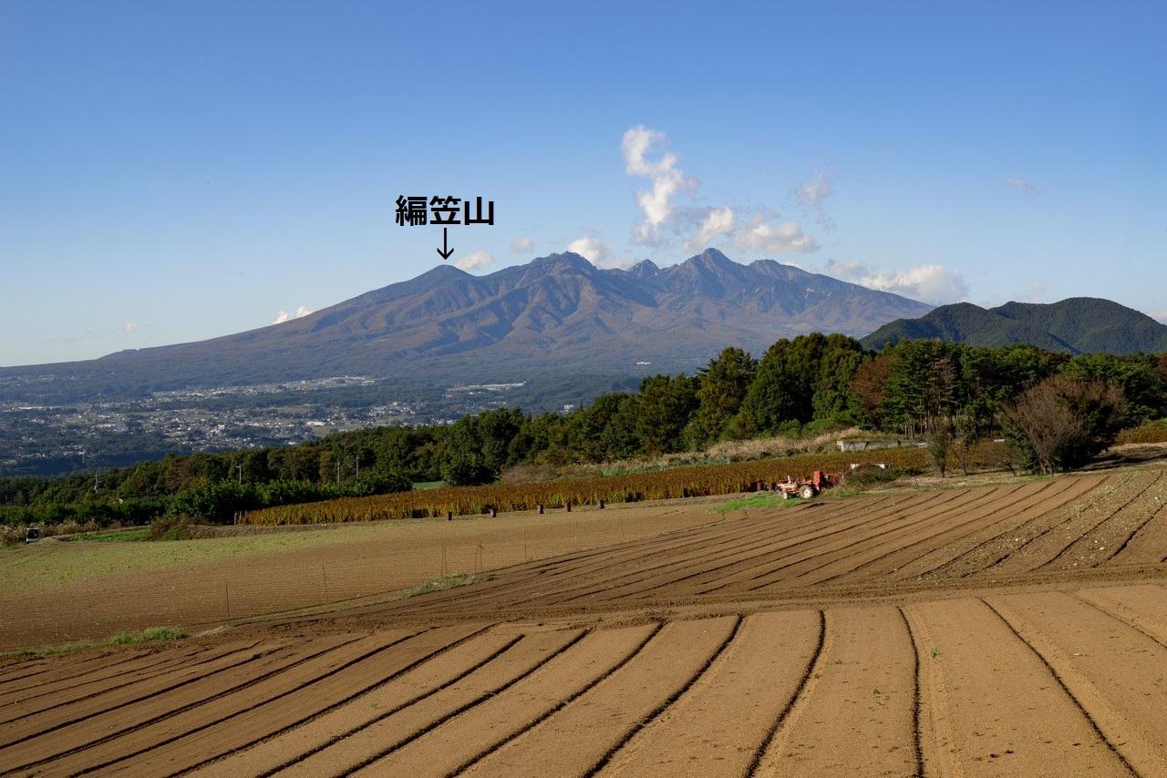 韮崎市内から見た八ヶ岳連峰