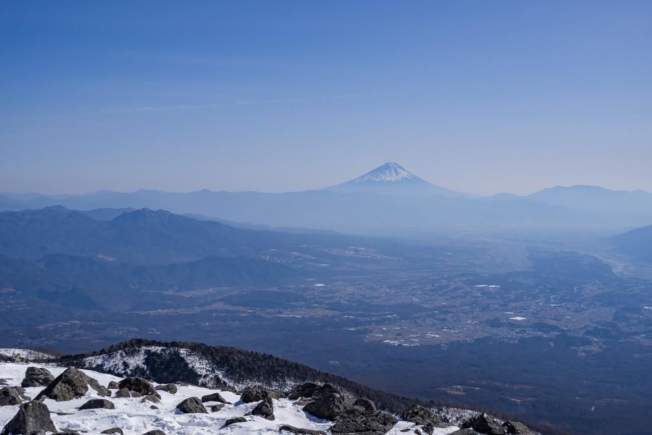 編笠山から見た富士山8
